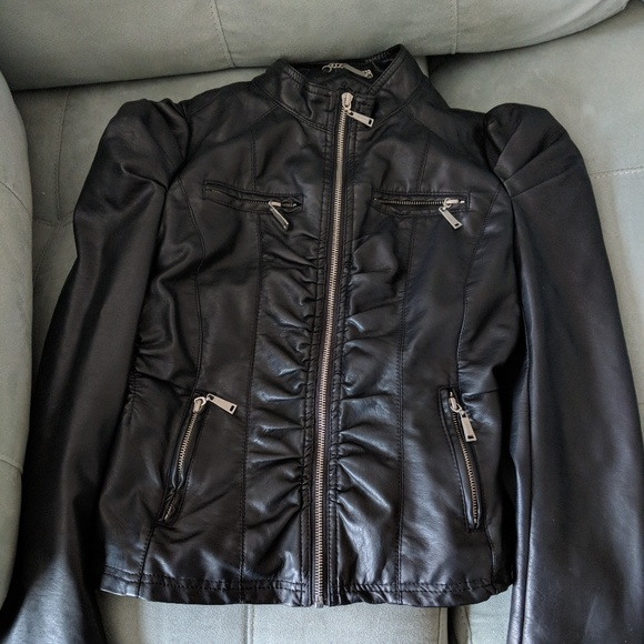 factory outlets latest trends of 2019 modern techniques Black faux leather jacket